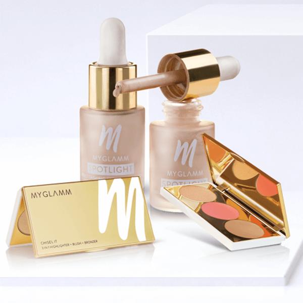 Glow Goddess - Makeup Kit - Spotlight And Chisel It Game Face  | MyGlamm
