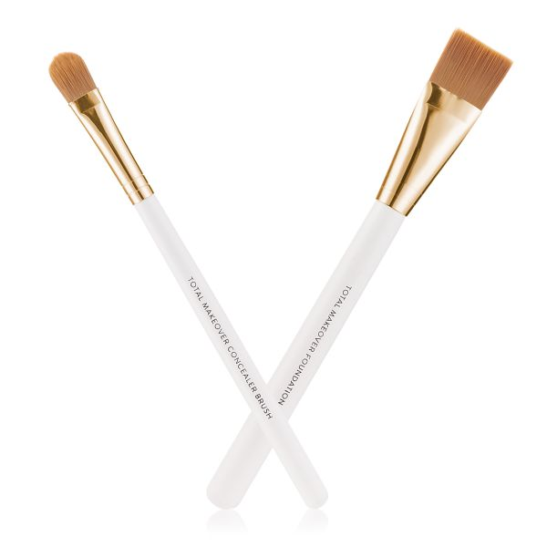 Makeup Kit - FF Cream Concealer Brush with Foundation Brush