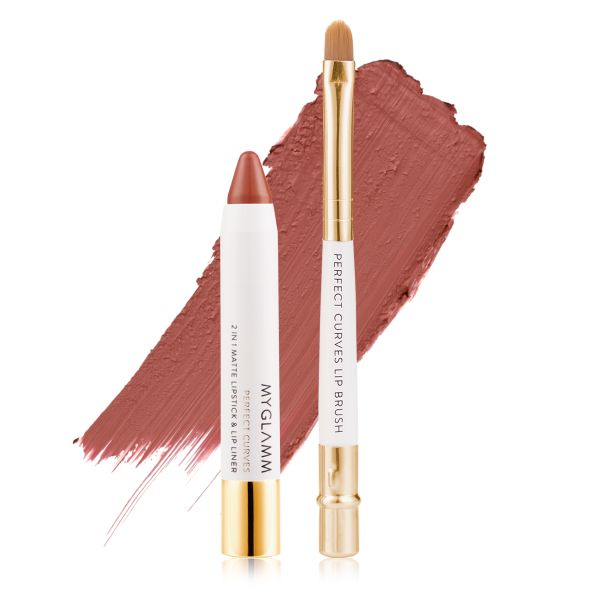 Makeup Kit - Perfect Lips Biscotti - Matte Lipstick with Lip Brush
