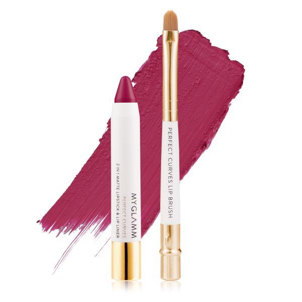 Makeup Kit - Perfect Lips Cosmopolitan - Matte Lipstick with Lip Brush