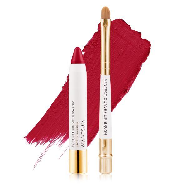 Makeup Kit - Perfect Lips Siren - Matte Lipstick with Lip Brush