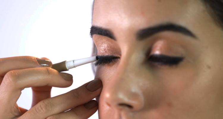Step 2 - Apply along the upper lash line as eyeliner