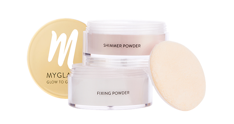 Use 2 in 1 Fixing & Shimmer Powder - Glow to Glamour