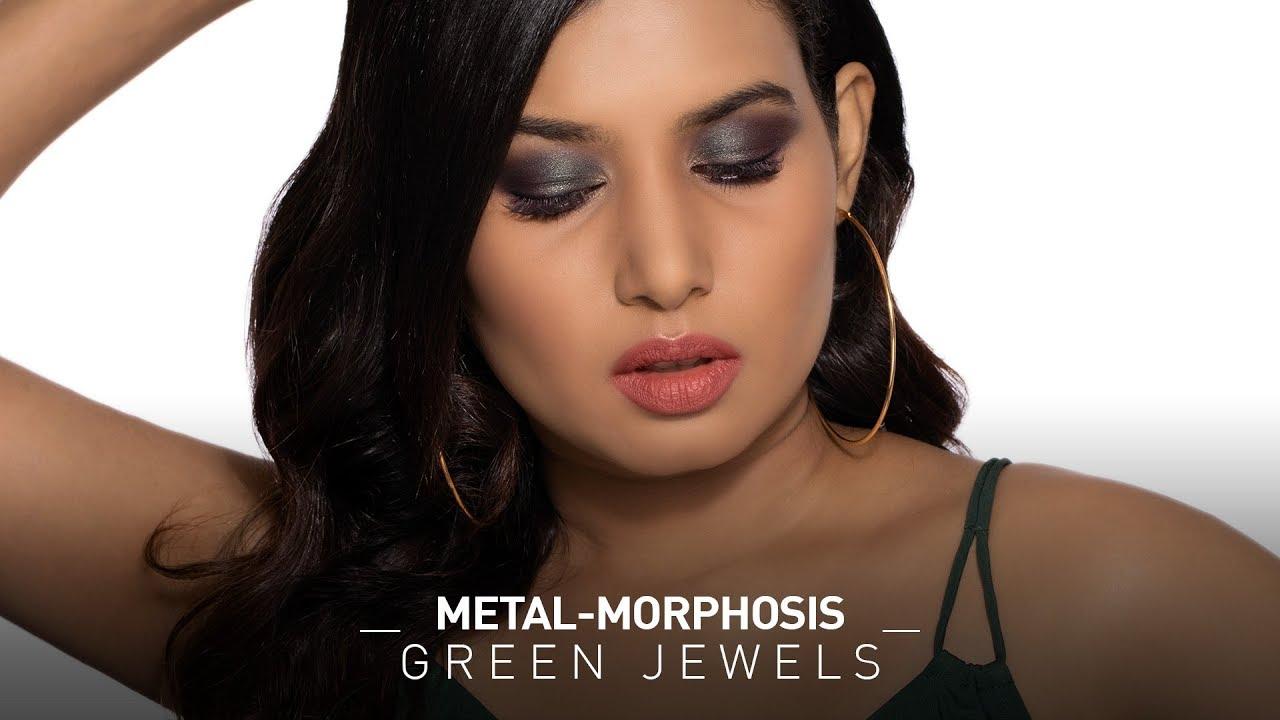 Metal - Morphosis - Green Jewels Eye Makeup Look
