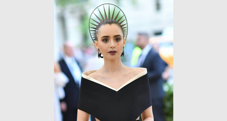 Lily Collins At Met Gala 2018