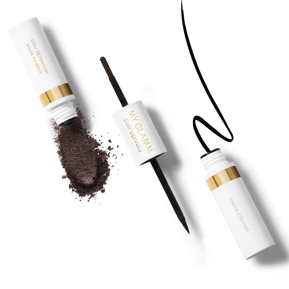 STAY DEFINED 2 in 1 Liquid Eyeliner + HD Brow Powder