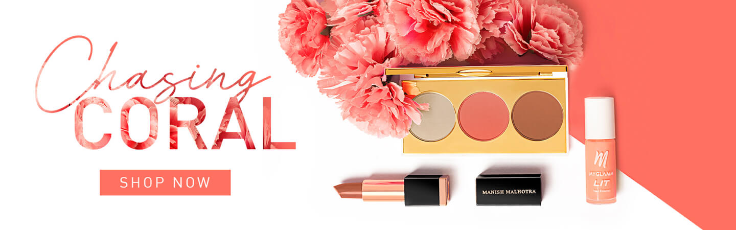 Trending Coral Makeup Collection