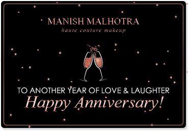 Manish Malhotra Anniversary Gift Card