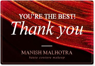 Manish Malhotra Thank You Gift Card