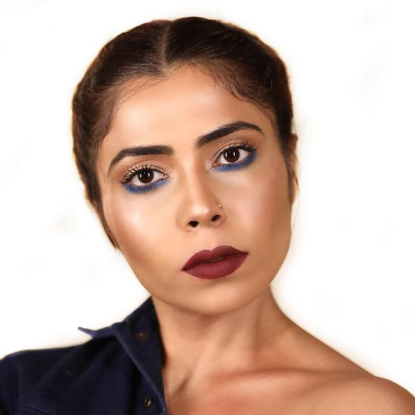 Blue Under liner Eyeshadow Makeup Look