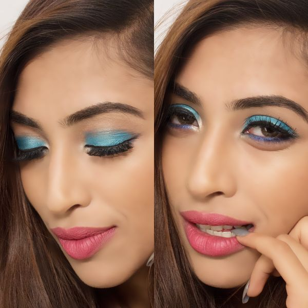 Sapphire Like Blue Eye Makeup Look