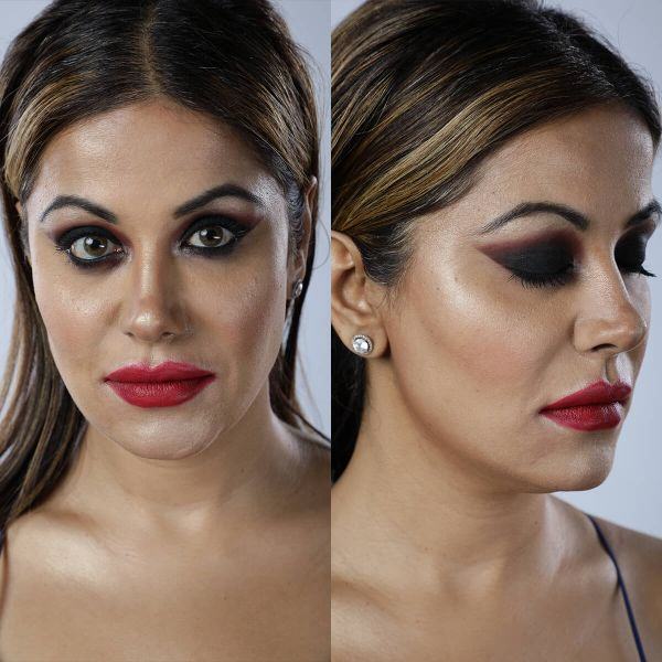 Exaggerated Smokey Eye Makeup Look