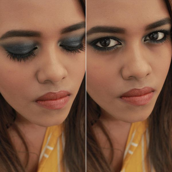 Gorgeous Gunmetal Eyes Makeup Look