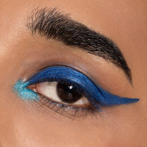 Metallic Makeup, Blue Makeup Look
