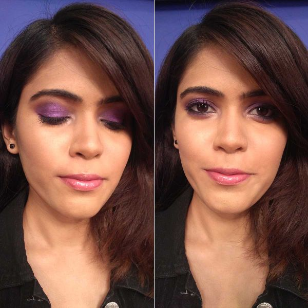 Purple Smokey Eye Makeup Look