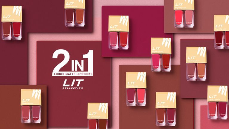 LIT 2 in 1 Liquid Matte Lipsticks