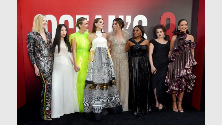 Star Cast At The Oceans 8 Premier