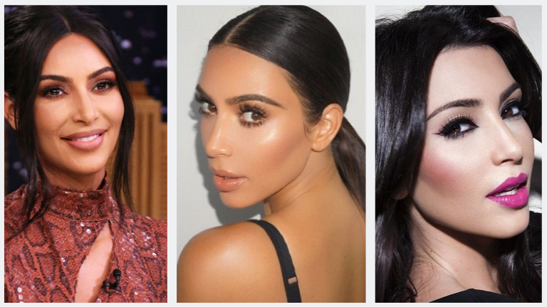 Kim Kardashian's Makeup Looks For Office