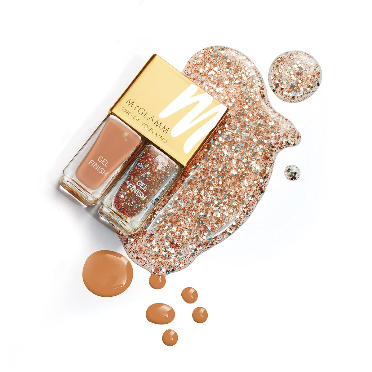 Two Of Your Kind Nude Glitter Nail Polish