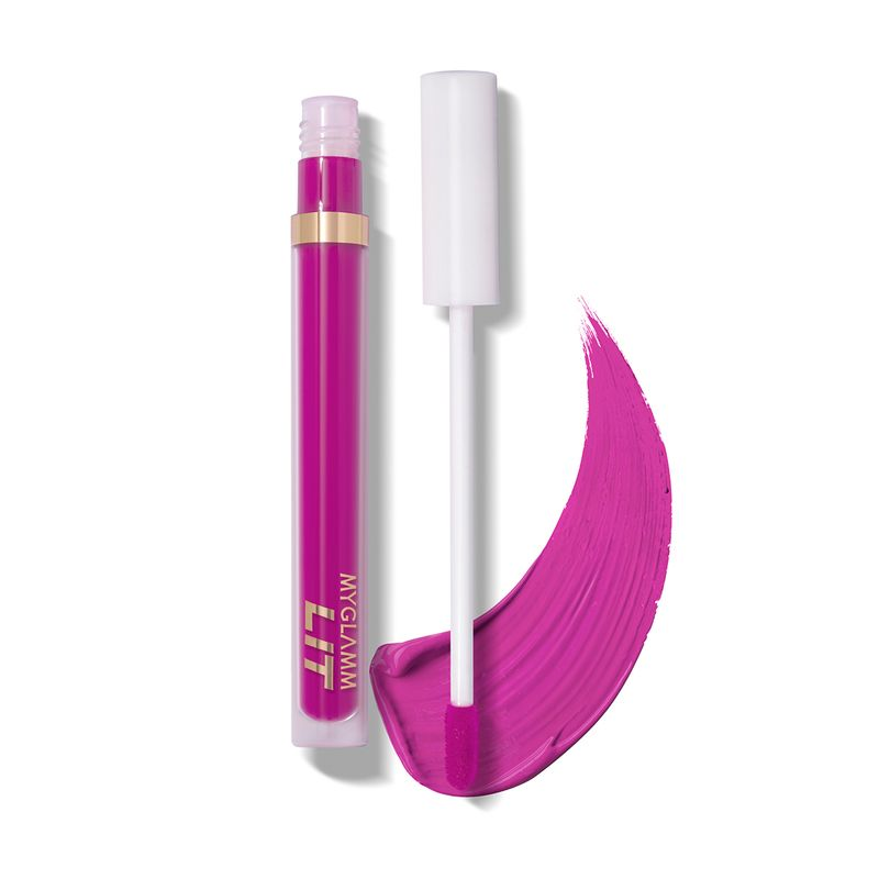 Buy LIT Liquid Matte Lipstick in Deep Purple Shade