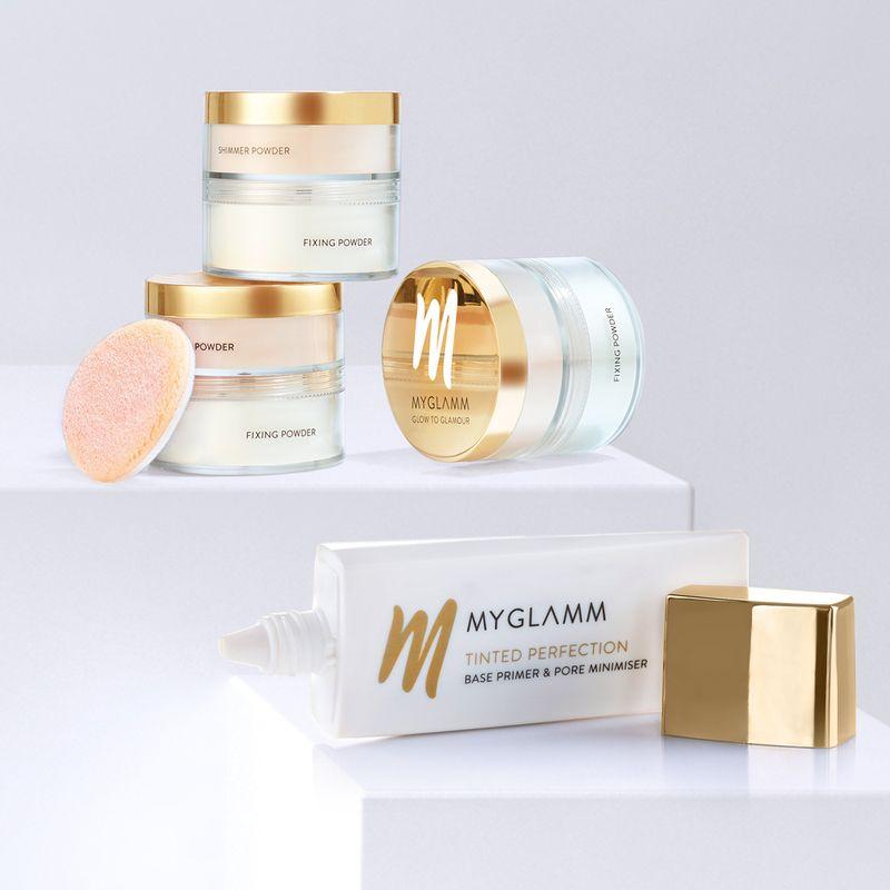 Makeup Kit - Face Base Primer With Shimmer & Fixing Powder