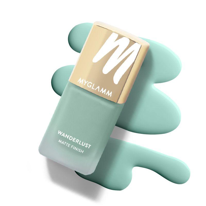 Wanderlust - Fiji - Blue Green Matte Nail Polish - MyGlamm