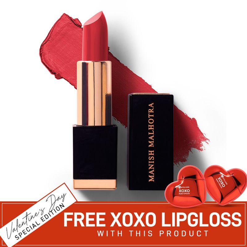 Manish Malhotra Hi-Shine Lipstick - Moroccan Red