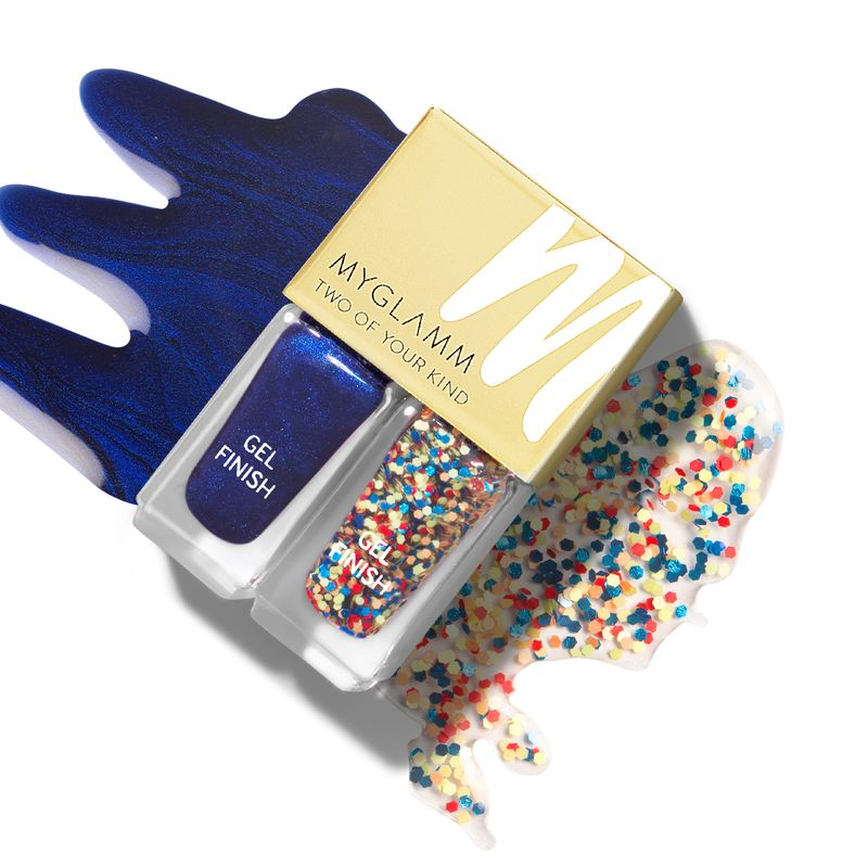 Two Of Your Kind - Party Popper - Blue Gel Nail Enamel