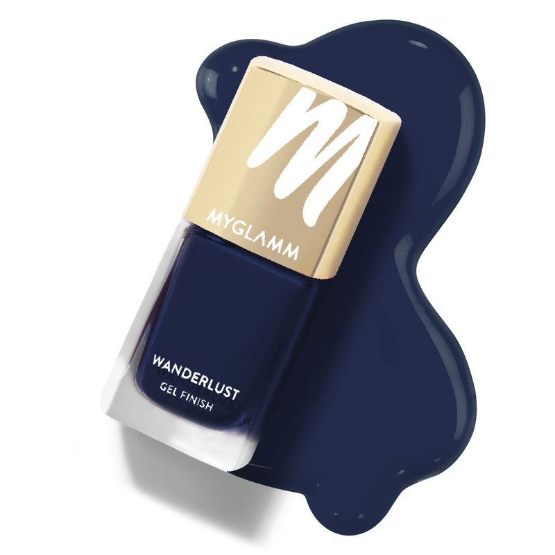 Wanderlust - Queen Of Night - Blue Gel Nail Polish - MyGlamm