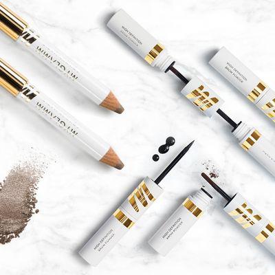 Makeup Kit - Golden Brown Eyeshadow Stick With Liquid Eyeliner & Brow Powder