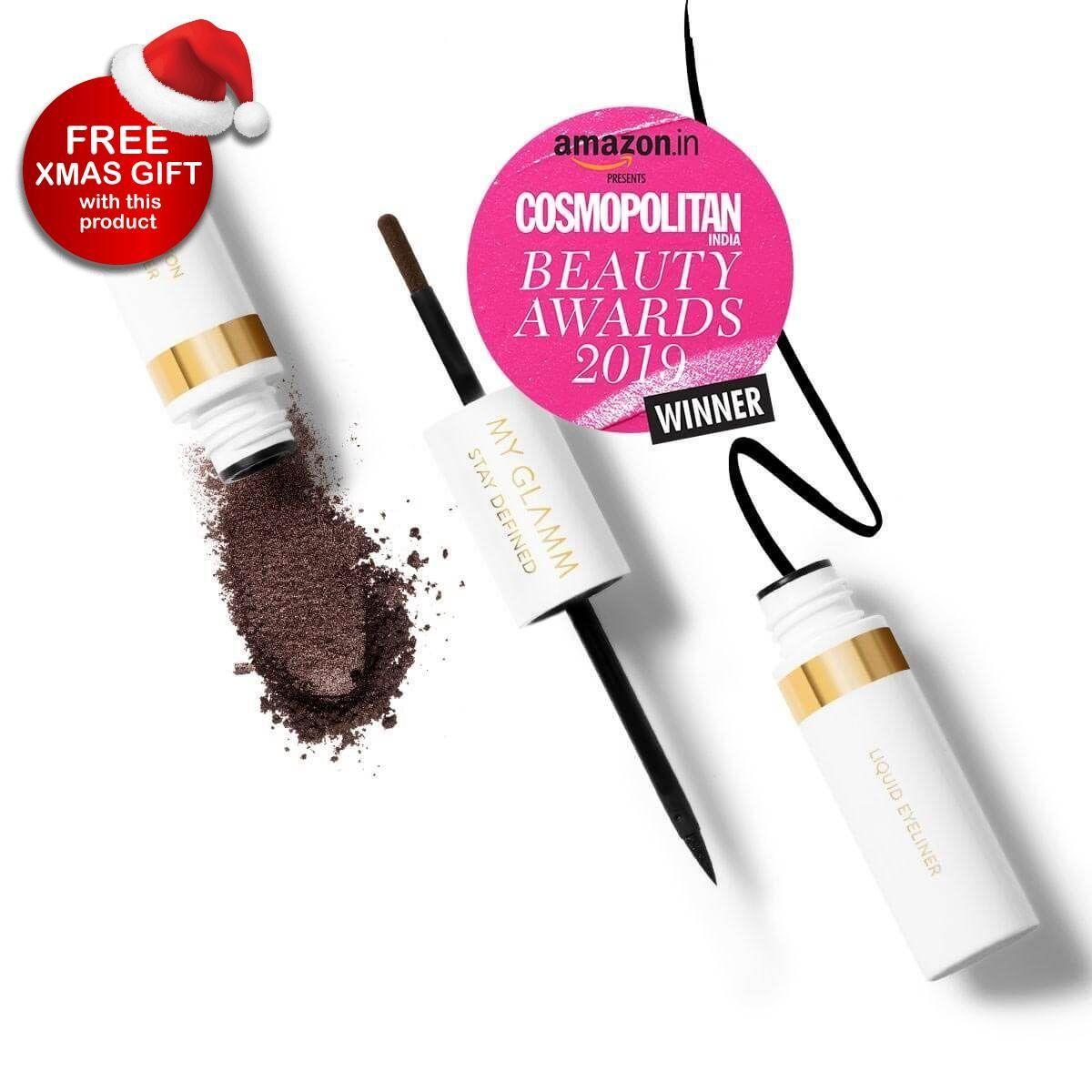 Stay Defined Liquid Eyeliner Brow Powder - Ebony & Walnut