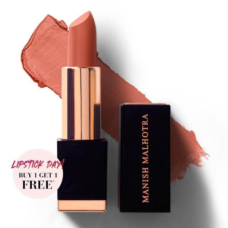 Manish Malhotra Hi-Shine Lipstick - Sunset Sienna