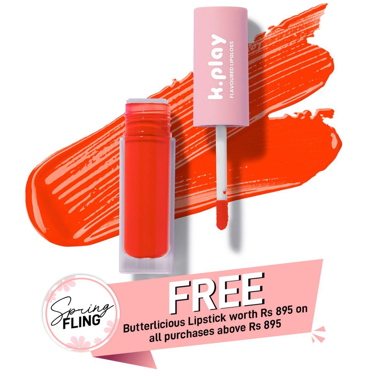 K.Play Flavoured Lipgloss - Mango Swirl