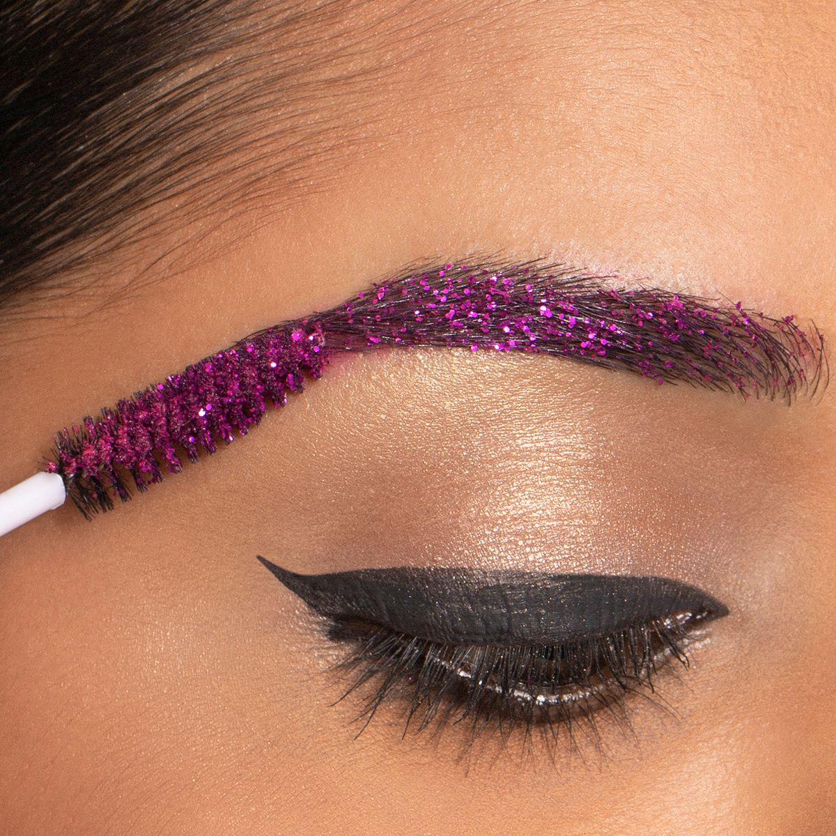 Glitter Eyebrow Makeup Look