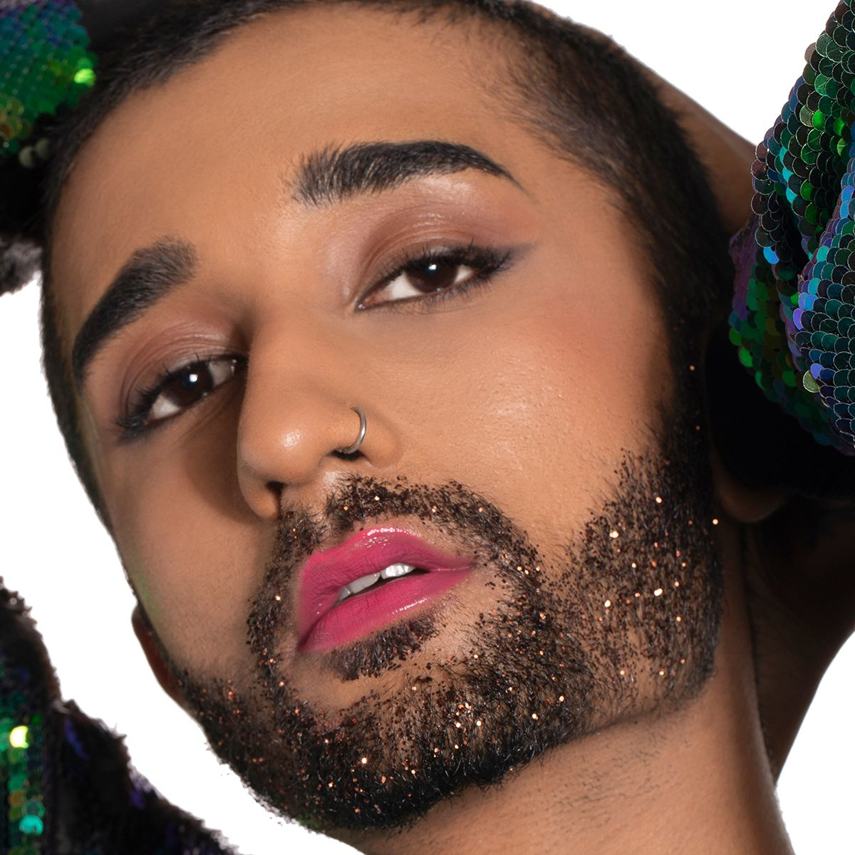 Glitterati Beard Makeup Look