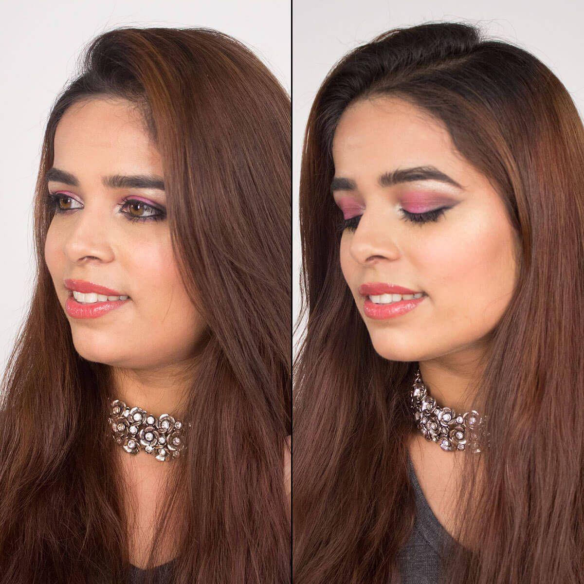 Popping Pink Eye Makeup Look