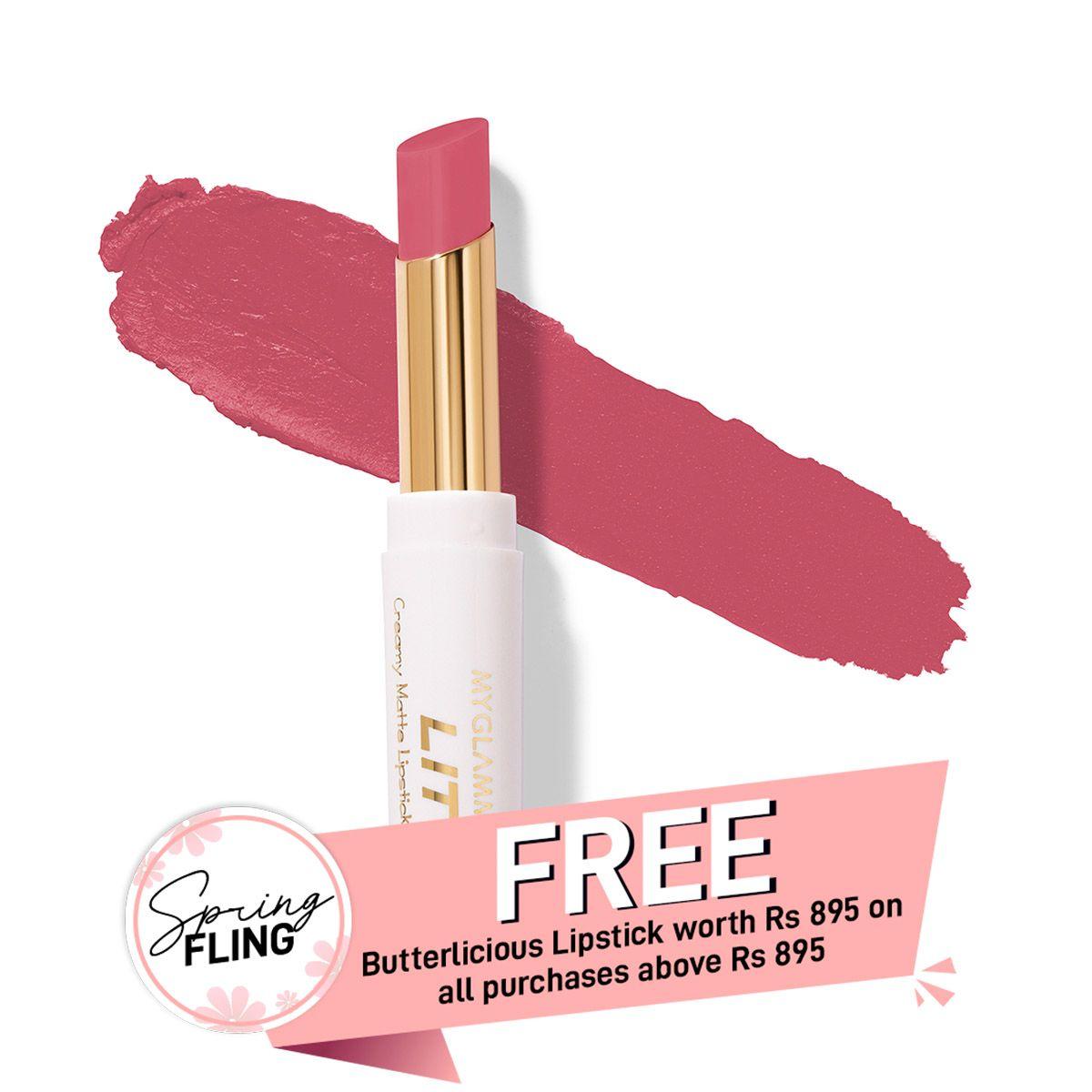 LIT Creamy Matte Lipstick - Pink Daiquiri