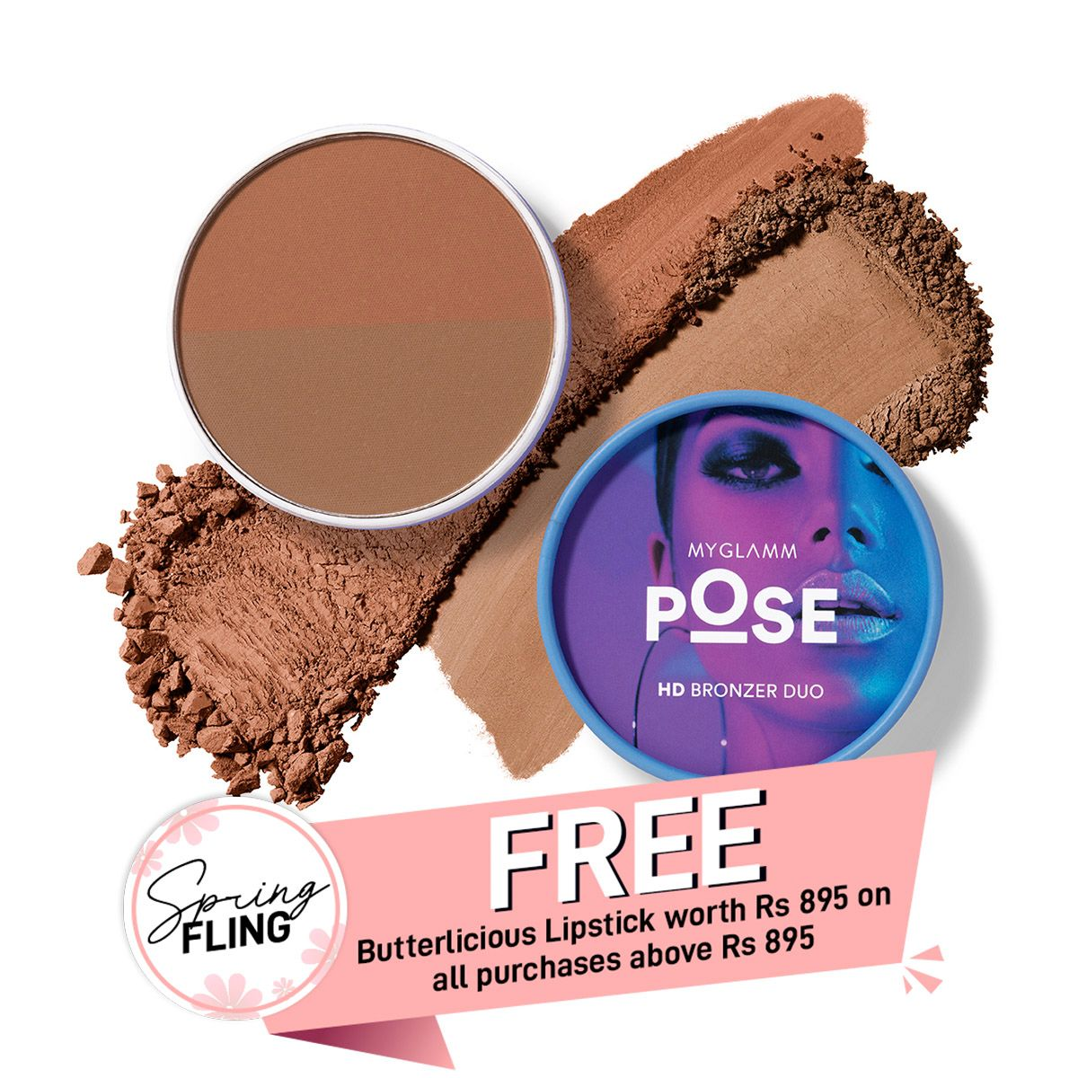 POSE HD Bronzer Duo - Cinnamon | Teracotta