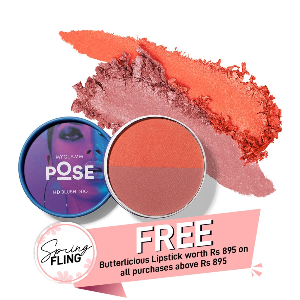 POSE HD Blush Duo - Coral | Punch