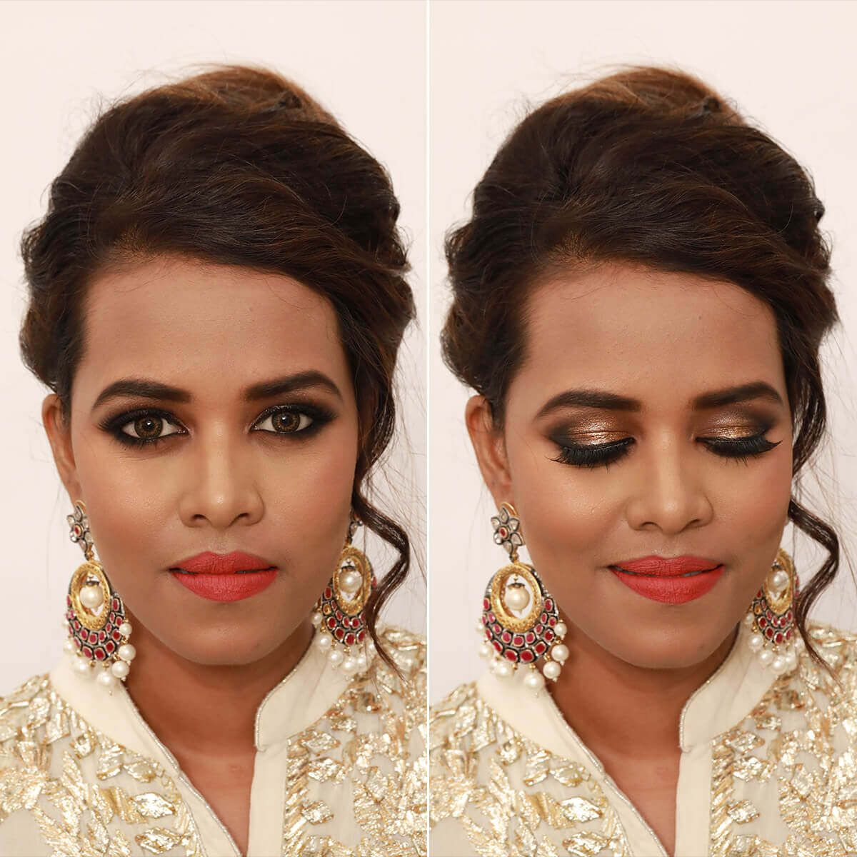 Golden Makeup Look