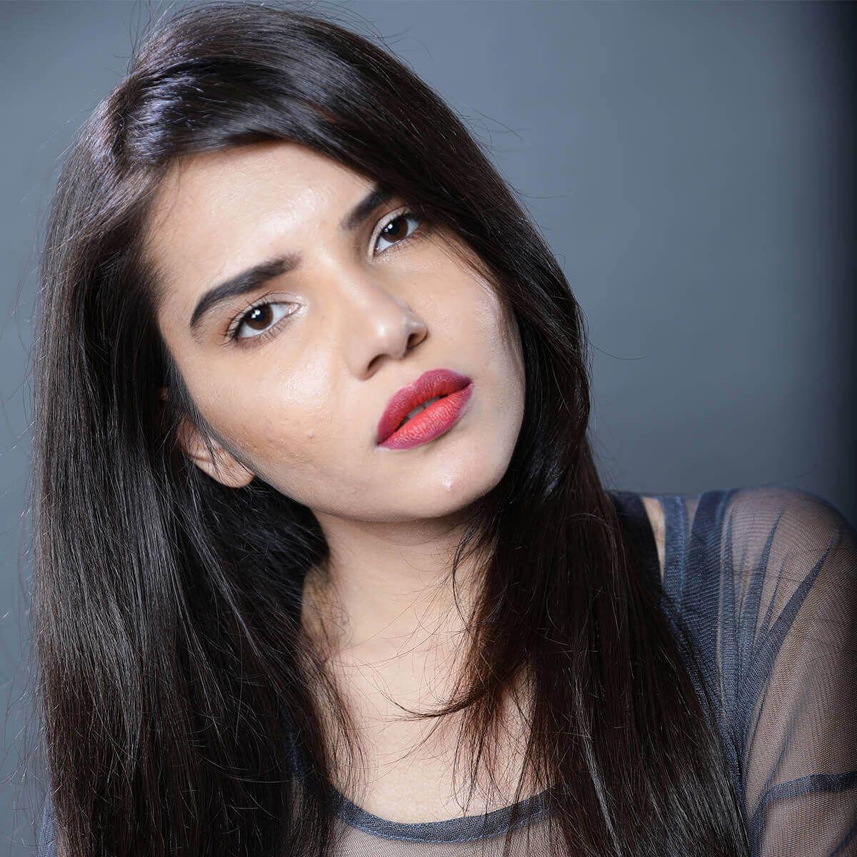 Ombre lips makeup look