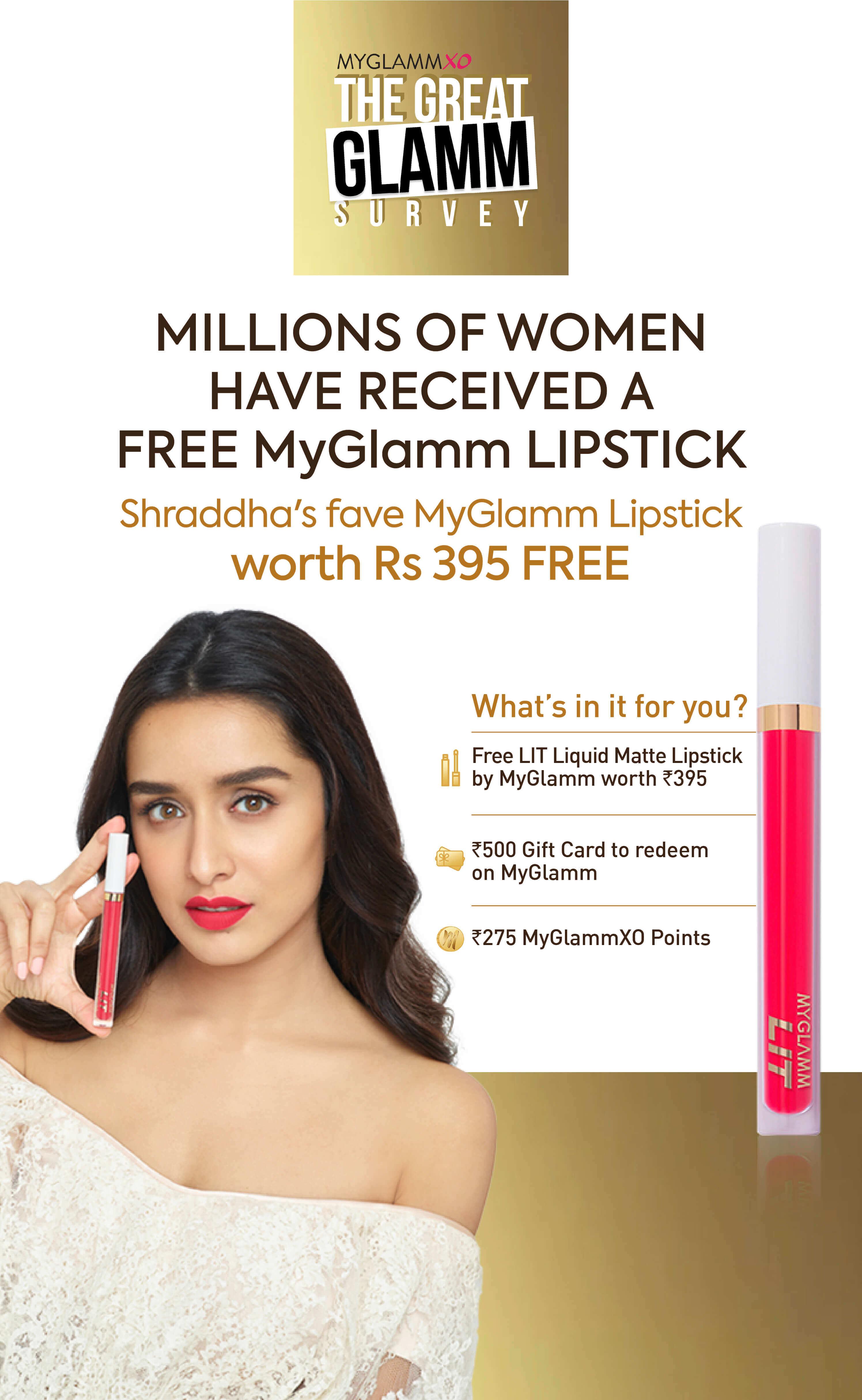 Get Free Lipstick Banner