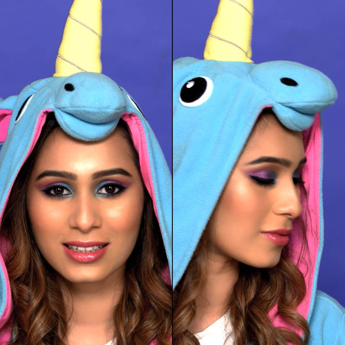 Unicorn Eyes Makeup Look