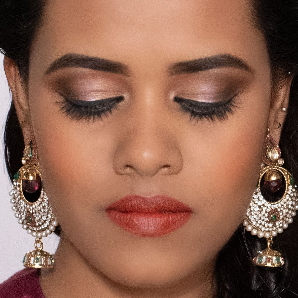 Traditional Temple Wedding Makeup